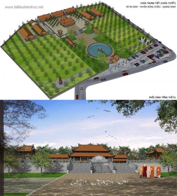 3d Model SU Chùa Tuyết - Quảng Ninh