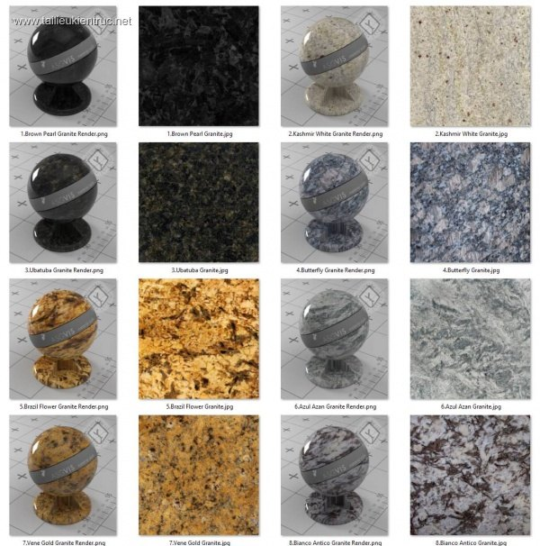 Bộ thư viện Granite Collection và Marble Collection