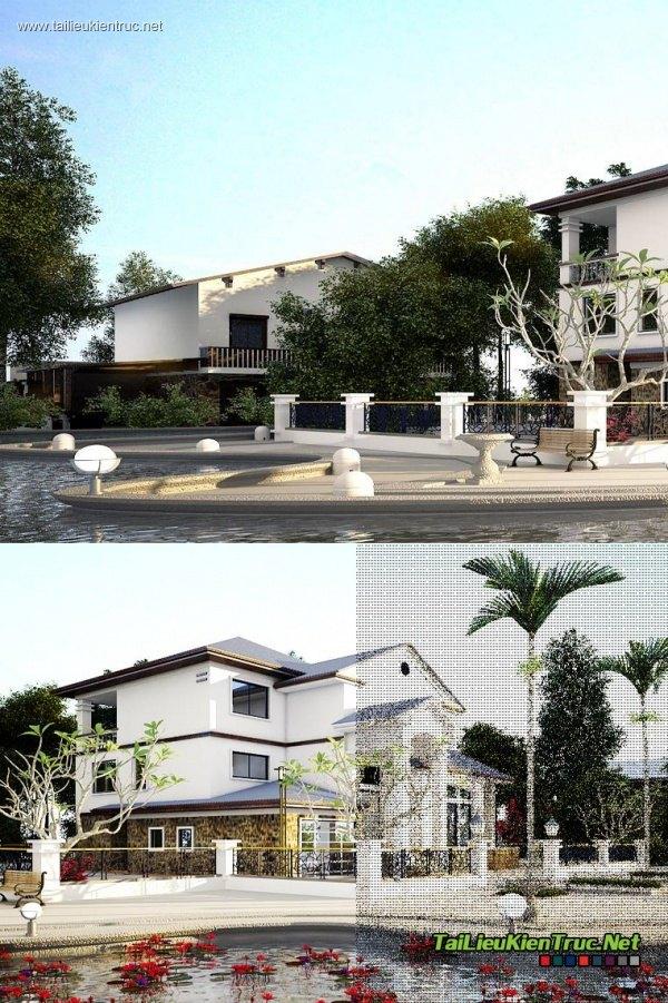 Sence Villa 00001 - 3dsmax vray2.4 + multiscatter