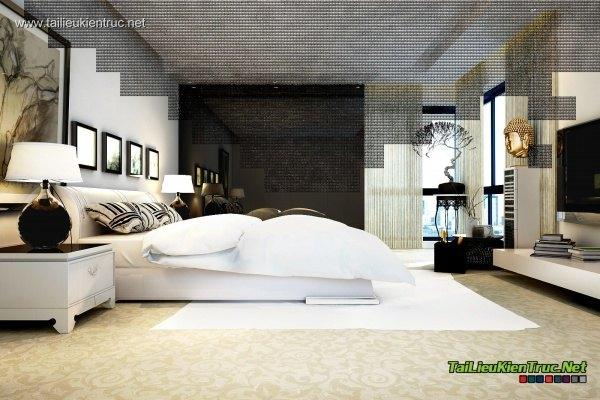 Sence Phòng Ngủ Master 00001 - 3dsmax 2012 render Vray