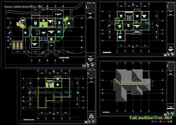 Hồ sơ thiết kế biệt thự vườn 2 tầng diện tích 20x19m - 006