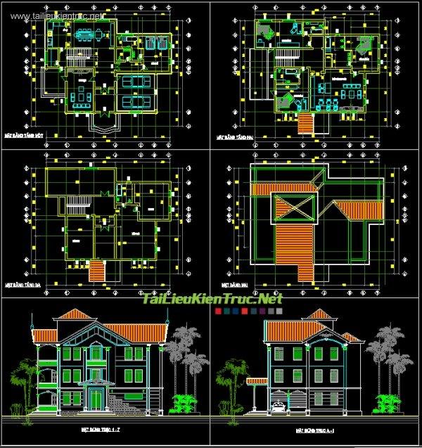 Hồ sơ thiết kế biệt thự vườn 3 tầng diện tích 16x19m - 007