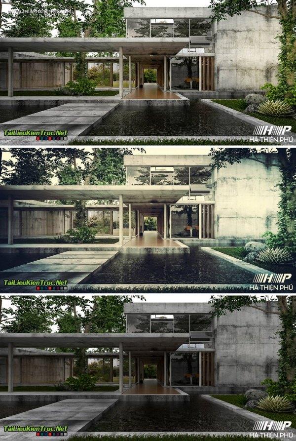 Sence Villa 00002 - Sketchup + Vray