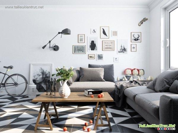 Sence Phòng khách 00002 - Nội thất chung cư hiện đại