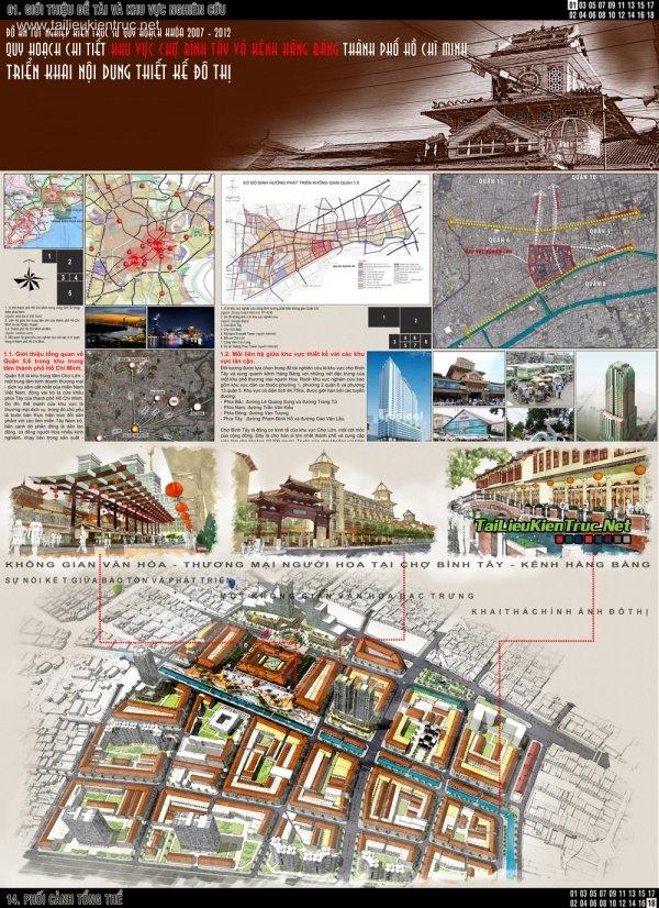 Đồ án quy hoạch - QH chi tiết khu vực chợ Bình Tây và Hàng Bàng HCM