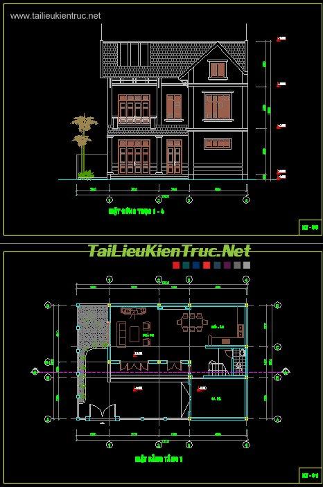 Hồ sơ thiết kế biệt thự vườn 2 tầng diện tích 9x13m - 008