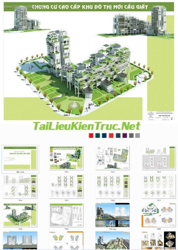 Đồ án tốt nghiệp kiến trúc - Chung cư cao cấp KĐT cầu giấy