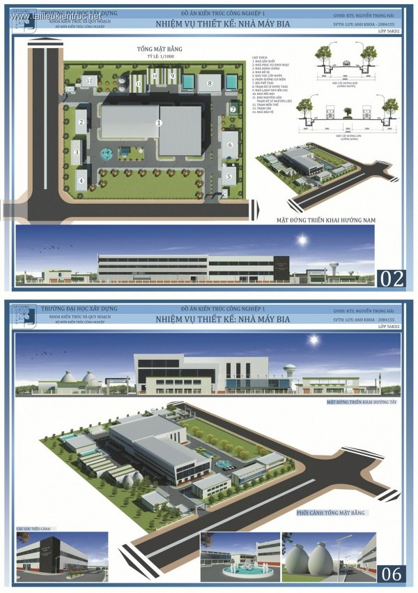 Đồ án công nghiệp 1 - Nhà máy sản xuất Bia 001