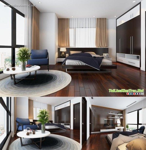 Sence Phòng Ngủ 00004 - Thiết kế phòng ngủ Master