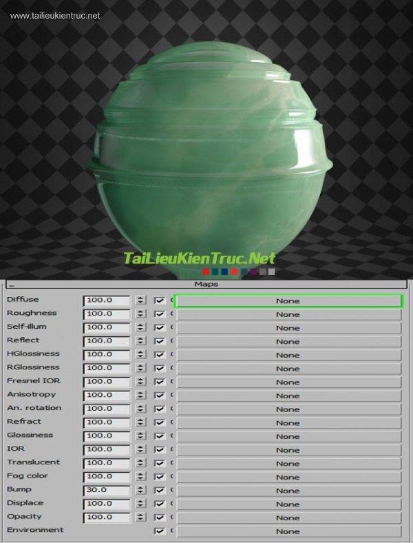 Sử dụng Vật liệu V-Ray FastSSS2 (Phần 3)