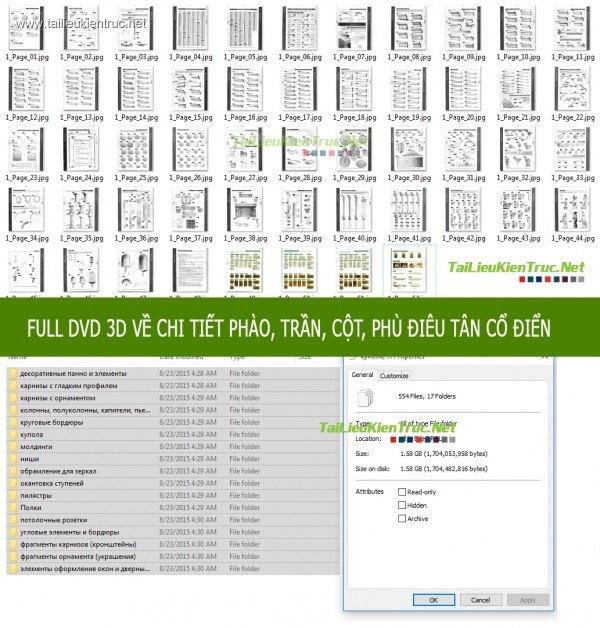 DVD 3DsMax về chi tiết Phào, trần, cột, phù điêu tân cổ điển