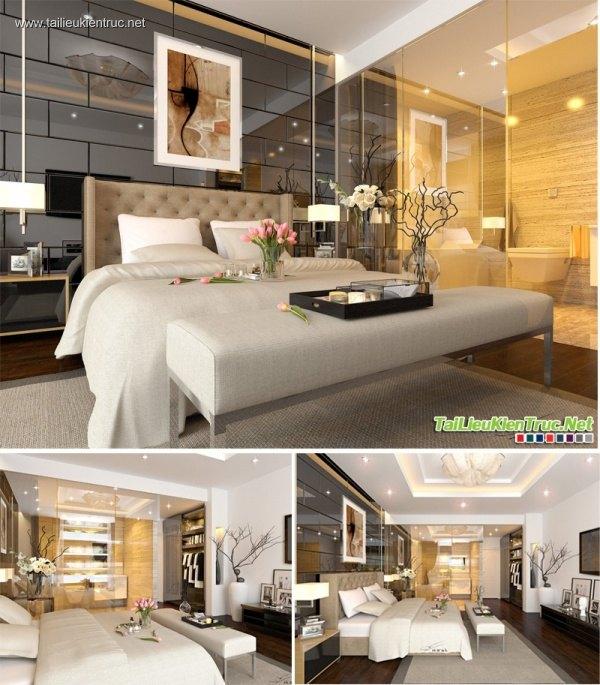 Sence Phòng Ngủ 00006 - Thiết kế phòng ngủ Master