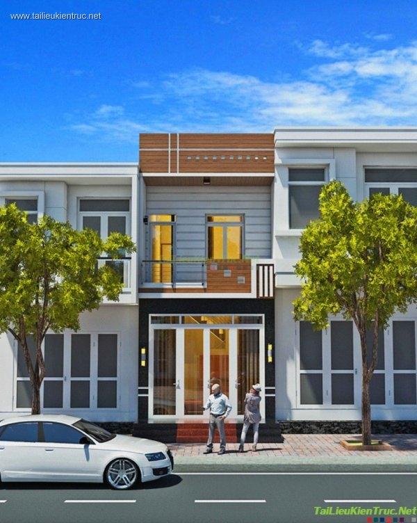 Hồ sơ thiết kế nhà liền kề 4 tầng diện tích 4x14m - 006