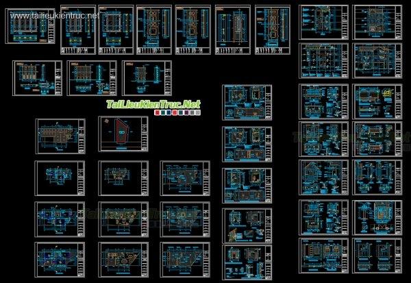 Hồ sơ thiết kế thi công nhà phố 3 tầng Hình thang - 007
