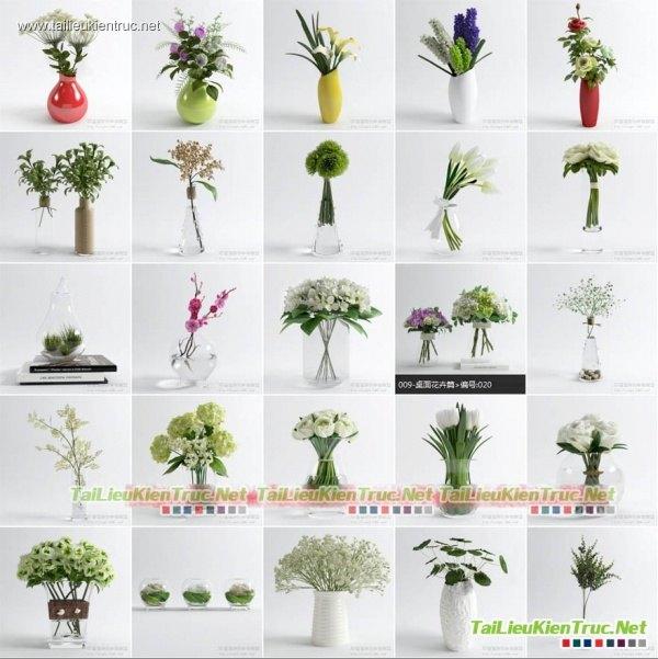 Tổng hợp 25 Model 3d Lọ hoa các loại