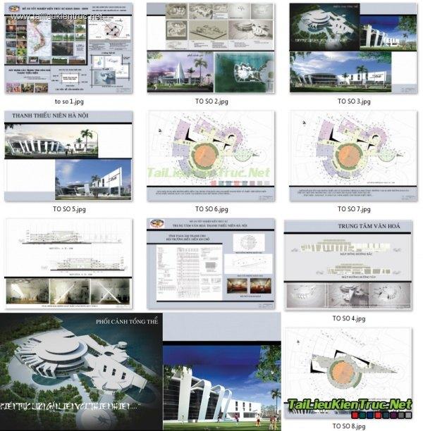 Đồ án tốt nghiệp kiến trúc - Trung tâm Văn hóa thanh thiếu niên Hà Nội