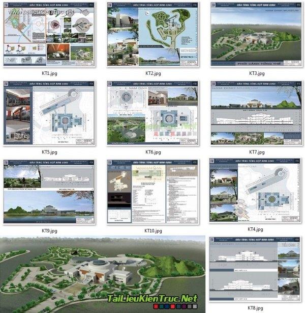 Đồ án tốt nghiệp kiến trúc - Bảo tàng Tổng Hợp Nam Định