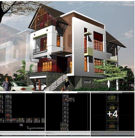 Hồ sơ thiết kế biệt thự 11x23m 3 tầng - 0014