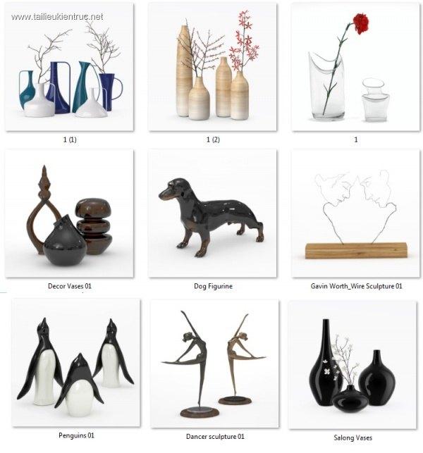Tổng hợp 9 Model vật trưng bày đẹp