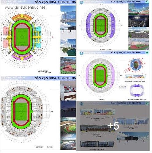 Đồ án tốt nghiệp kiến trúc - Sân vận động Hoa Phượng