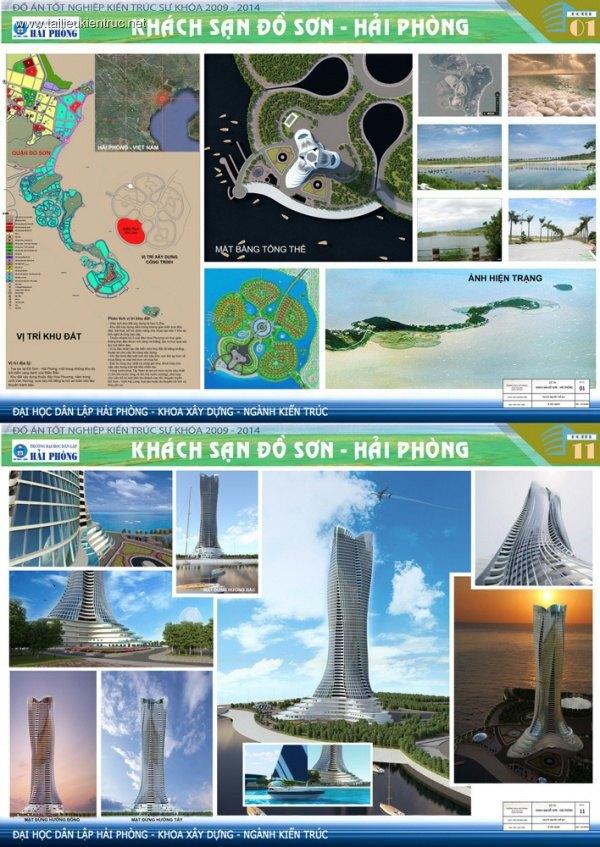 Đồ án tốt nghiệp kiến trúc - Khách sạn Đồ Sơn - HP