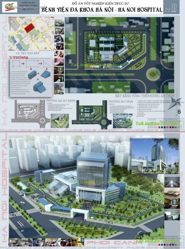 Đồ án kiến trúc - Bệnh viện Đa Khoa Hà Nội