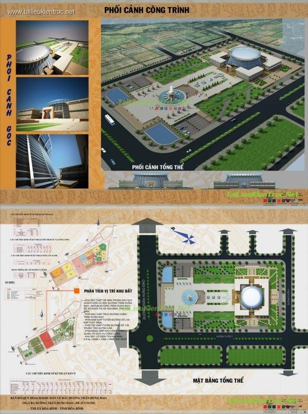 Đồ án tốt nghiệp kiến trúc - Bảo tàng Truyền thống tỉnh Hòa Bình
