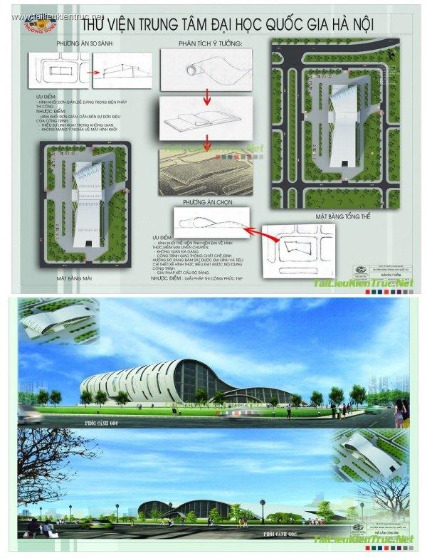 Đồ án tốt nghiệp kiến trúc - Thư viện trung tâm Đại học Quốc Gia HN
