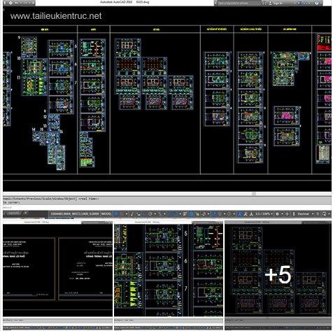 Hồ sơ thiết kế thi công nhà phố lệch tầng 6x16m - 013