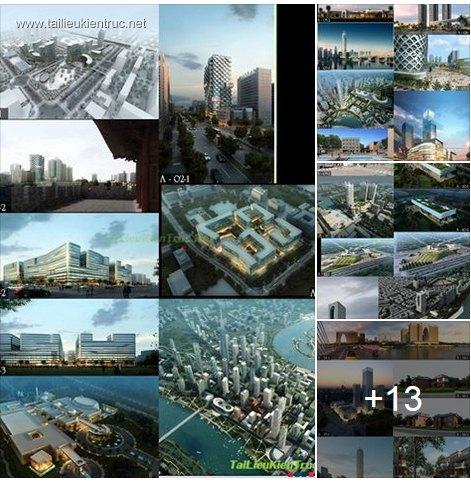 Thư viện Photoshop ghép phối cảnh công trình kiến trúc Full