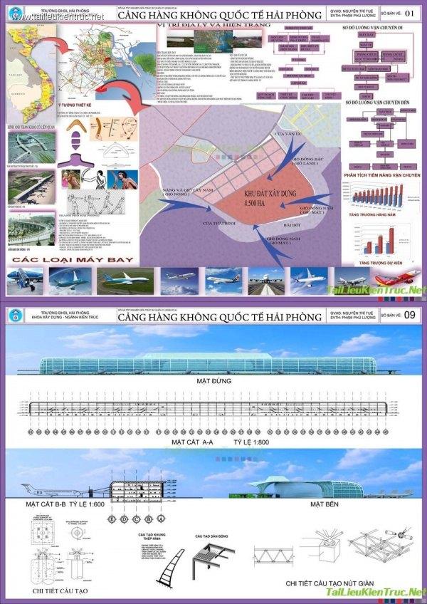 Đồ án kiến trúc - Ga hàng không Quốc tế Hải Phòng