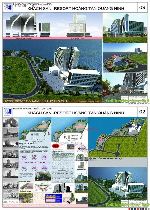 Đồ án tốt nghiệp kiến trúc - Khách sạn Resort Hoàng Tân - Quảng Ninh
