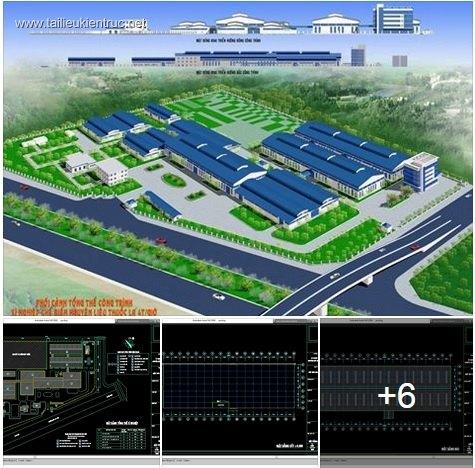 Hồ sơ thiết kế nhà công nghiệp - Nhà máy chế biến thuốc lá