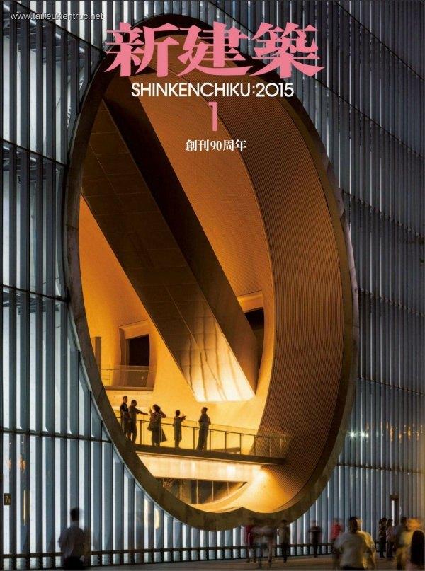 Tạp chí kiến trúc Shinkenchiku 2015 tháng 1