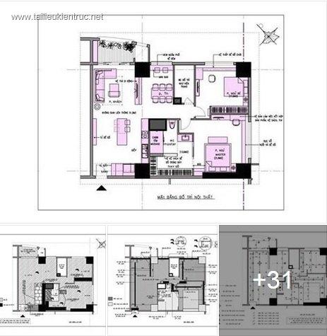 Hồ sơ thiết kế thi công nội thất chung cư mẫu 002