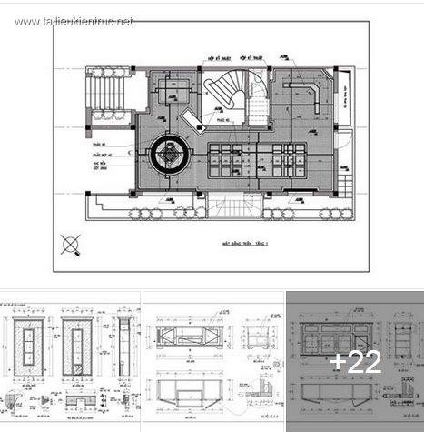 Hồ sơ thiết kế thi công nội thất Biệt thự mẫu 003