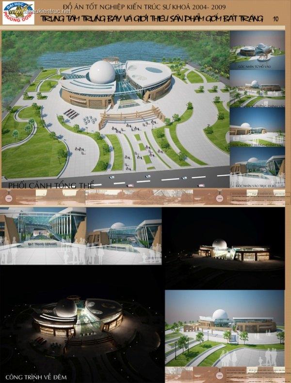 Đồ án tốt nghiệp kiến trúc - Trung tâm trưng bày sản phẩm gốm Bát Tràng