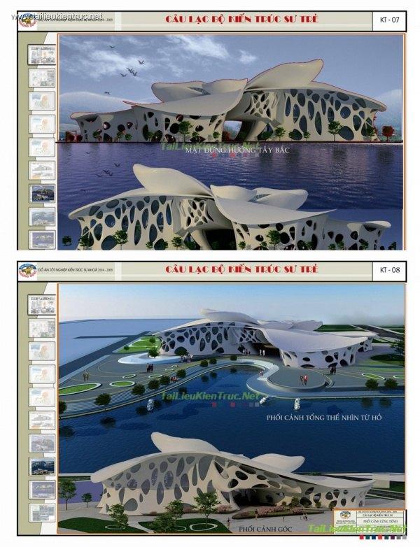 Đồ án tốt nghiệp kiến trúc -  Câu lạc bộ Kiến trúc sư trẻ
