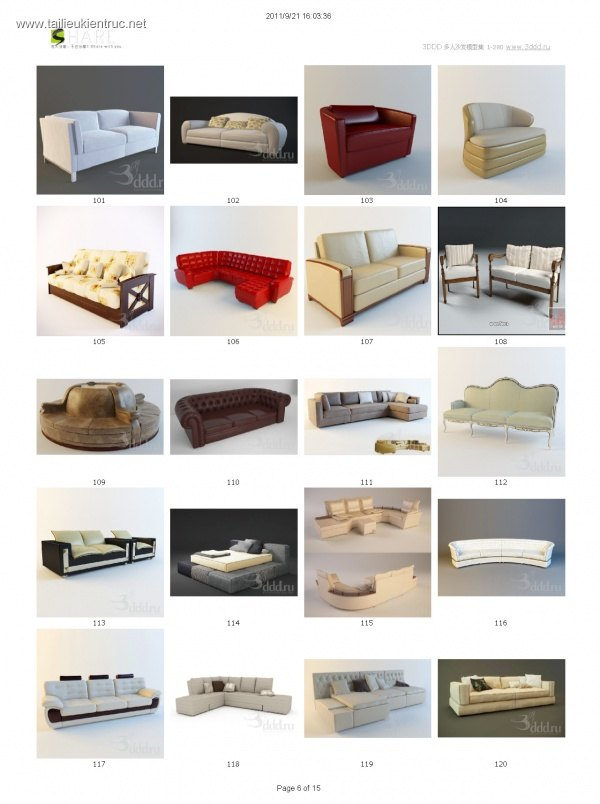 Tổng hợp 100 File 3D model Sofa cực đẹp P2