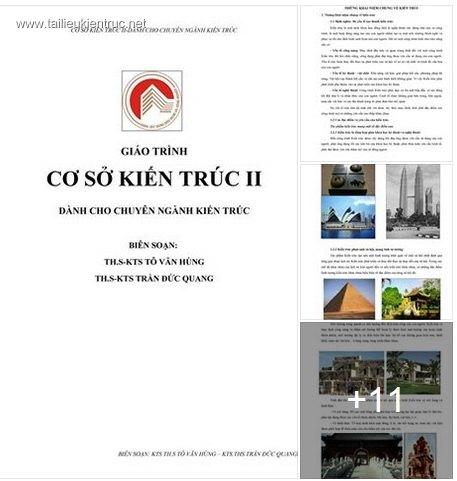 Giáo trình cơ sở kiến trúc 2 free download