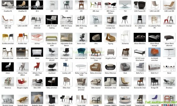 Tổng hợp 128 Model 3d bàn ghế các loại 00007
