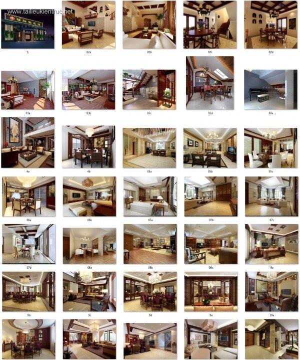 Thư viện 3dsmax Phối cảnh nội thất các công trình TH-V2-2