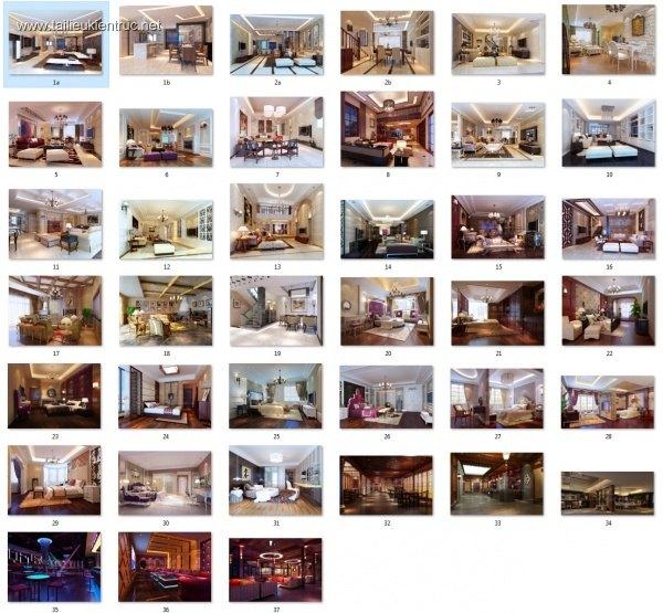 Thư viện 3dsmax Phối cảnh nội thất các công trình TH-V2-3