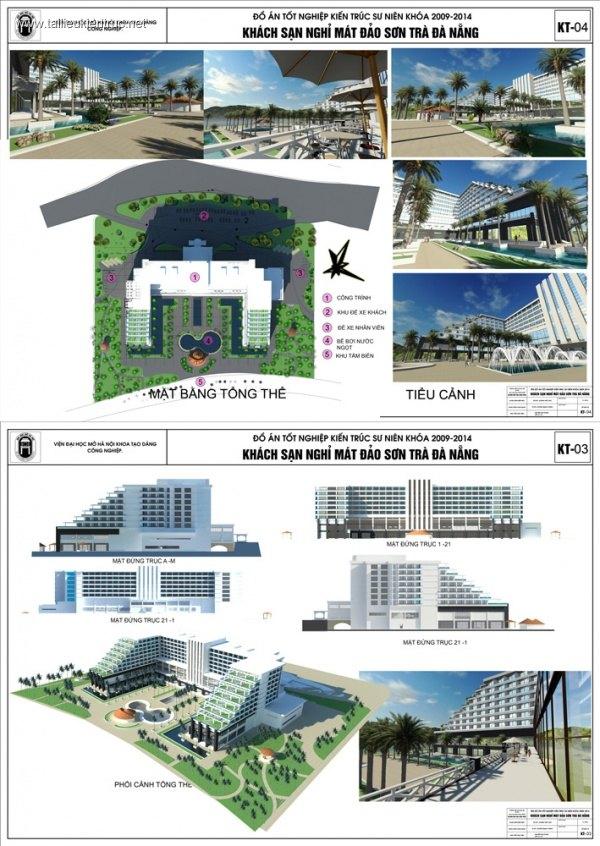 Đồ án tốt nghiệp kiến trúc - Khách sạn Nghỉ dưỡng Sơn Trà Đà Nẵng