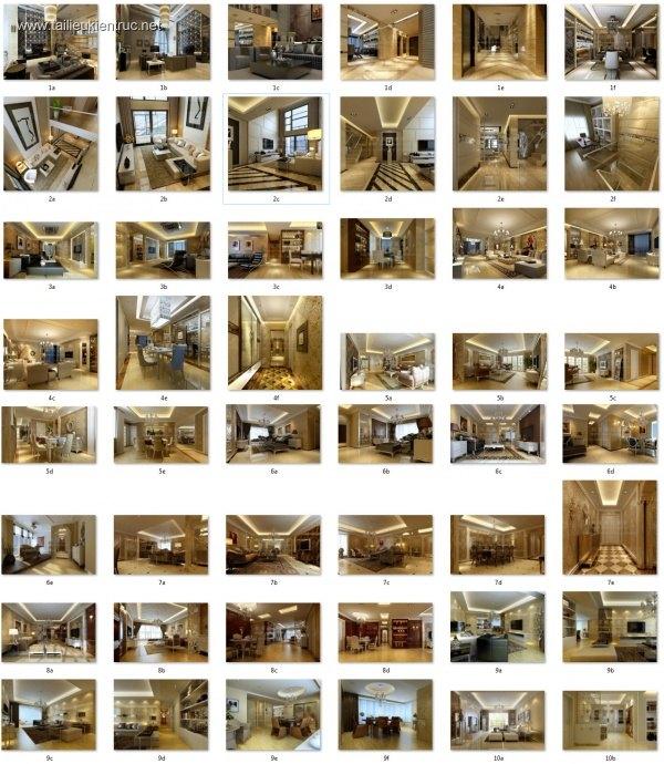 Thư viện 3dsmax Phối cảnh nội thất các công trình TH-V3-1
