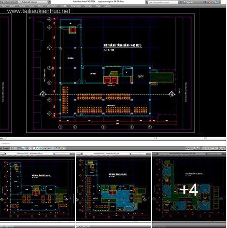 Hồ sơ thiết kế khách sạn 10 tầng mẫu 002