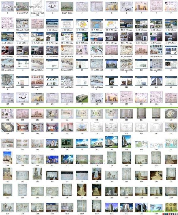 Tổng hợp về tài liệu diễn họa đồ án bằng tay