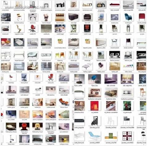 Tổng hợp 184 model 3dsmax về các loại bàn ghế, sofa của Ý