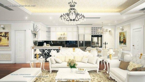 Sence Phòng khách 00007 - Nội thất Royal Tân cổ điển
