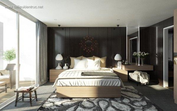 Sence Phòng Ngủ 00009 - Thiết kế phòng ngủ Master